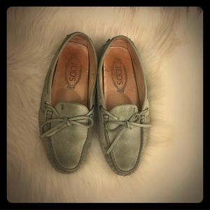 Tod's gommino lace up leather loafers